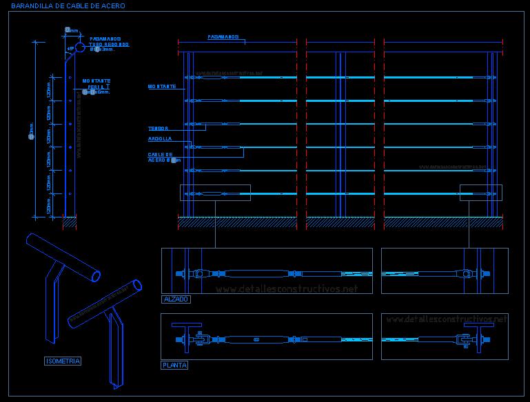 Escaleras - Escalera con tensores de acero ...