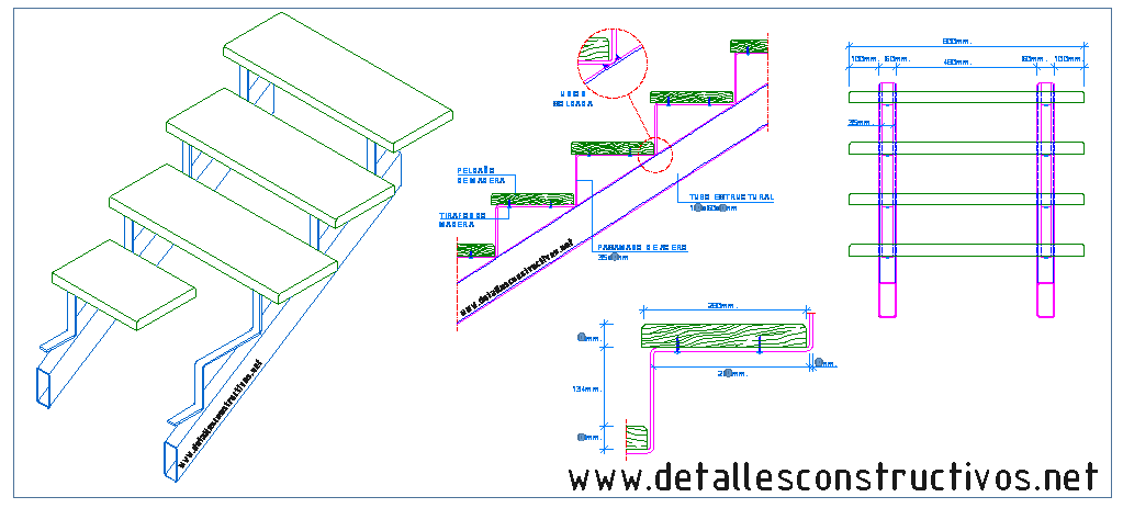 Escaleras - Peldanos escalera madera ...