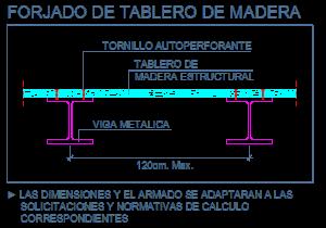 dwg_bloque_detalle_forjado_madera_tablero_estructural_viga_metalica