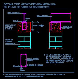 apoyo_entrega_viga_metalica_perfil_pilar_fabrica_resistente_ladrillo_machon_dwg