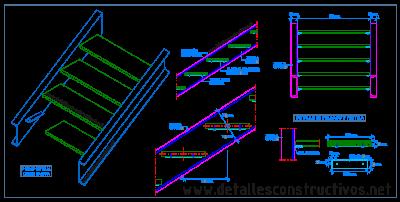 Detalles constructivos en dwg for Escaleras metalicas planos