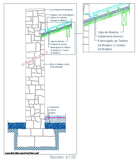 Detalles constructivos en dwg - Cerramientos de fachadas ...