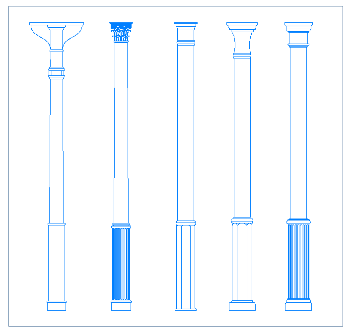 Columnas for Pilares y columnas