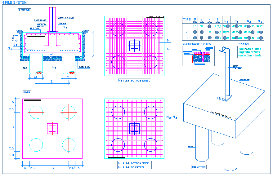 Pile Foundation Drawing : Columns detallesconstructivos