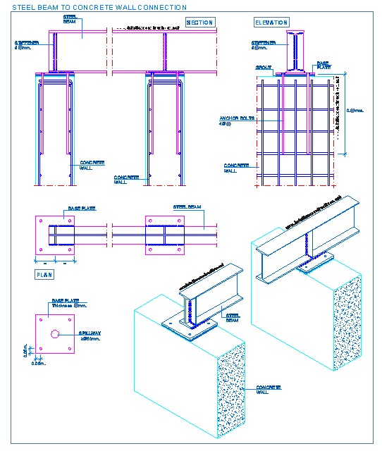 steel_beam_load_reinforced_concrete_bearing_rc_wall_support_apoio_parede_betao - Design Of Reinforced Concrete Walls