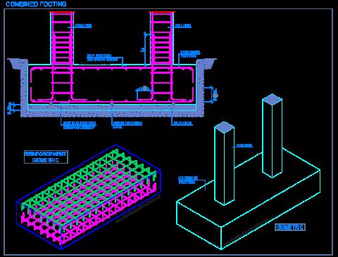 combined_footing_sahllow_pad_foundations_reinforced_concrete_plinto_combinato