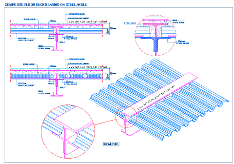 composite_steel_deck_decking_floor_slab_metal_bearin_angle_frames_beam