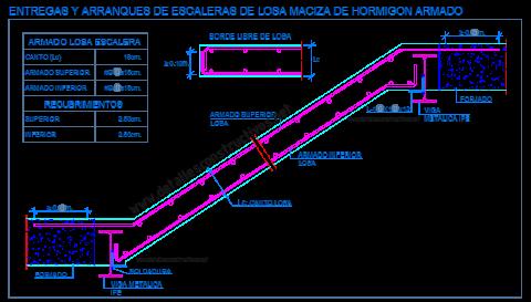 escalera_losa_maciza_hormigon_armado_viga_IPE_metalica_perfil_acero_zanca_apoyo_entrega_arranque_dwg_cad_concreto_scala_treppe_grada_escadas_lajes_escalier_beton_arme_detail