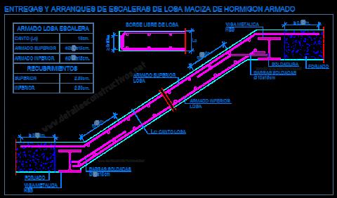 escalera_losa_maciza_hormigon_armado_viga_metalica_perfil_HEB_acero_zanca_apoyo_entrega_arranque_dwg_cad_concreto_scala_treppe_grada_escadas_lajes_escalier_beton_arme_poutre_acier_detail