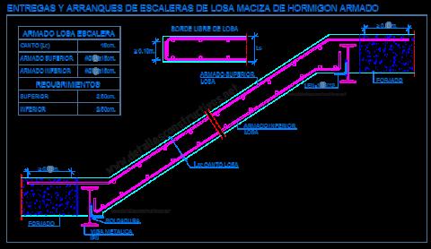 escalera_losa_maciza_hormigon_armado_viga_metalica_perfil_acero_zanca_apoyo_entrega_arranque_dwg_cad_concreto_scala_treppe_grada_escadas_lajes_escalier_beton_arme_detail