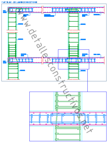 flat_concrete_slab_columns_connection_reinforced_planchers_dalles_beton_arme