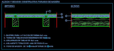 forjado_techo_madera_vigas_wood_beams_holzbalken_dwg_cad
