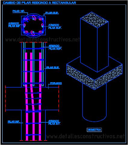 pilar_redondo_cuadrado_rectangular_cambio_transicion_hormigon_columna_concreto_armado_detalle_pilier_poteau_beton_arme_section_carre_rectangulaire_pilastro_cemento_armato_sezioni_quadrata_circolare_rectangolare_dwg_detail