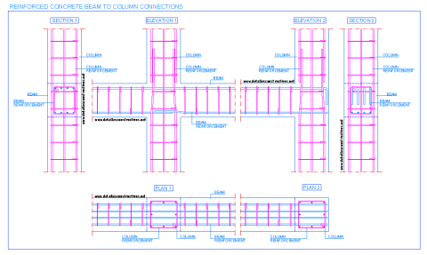 reinforced_concrete_beam_to_column_connection_joint_poutre_poteaux_beton_arme