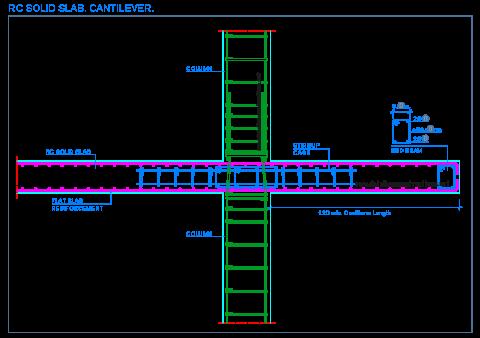 reinforced_concrete_solid_slab_rc_floor_flat_frame_cantilever_plancher