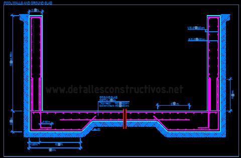 swimming_pool_retaining_walls_cantilever_foundation_ground_slab_raft_mat_spread_rcc_reinforced_concrete_Fundamentplatte_Stahlbetonwande_Schwimmbecken_piscine_mur_soutènement_dalle_fondation_dwg_drawing_detail