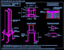 placa_anclaje_pilar_metalico_pernos_cartelas_columna_steel_column_base_plate