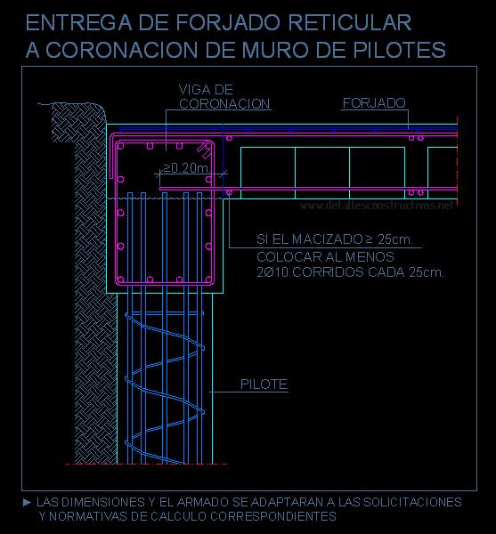 Pilotes - Detalle constructivo techo ...