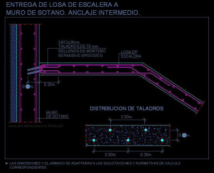 Losa maciza for Detalle escalera volada